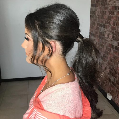 Picture of a formal ponytail evening hairstyle