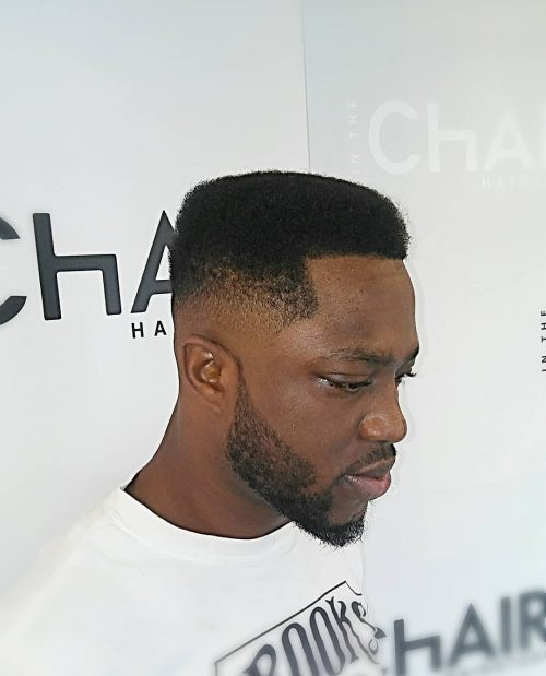 A freehand fade haircut for black men