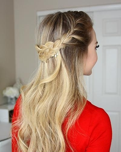 Picture of a French braid hairstyle