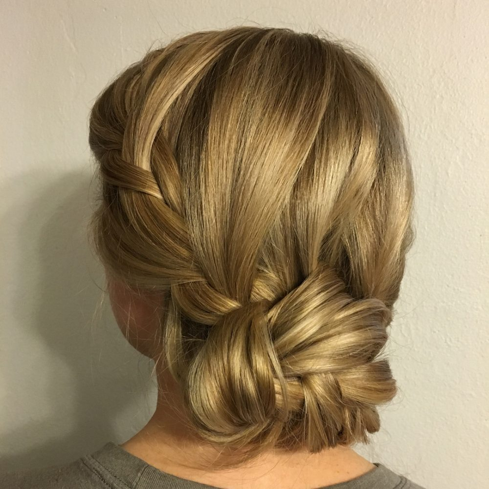 French Braid Into Chignon hairstyle