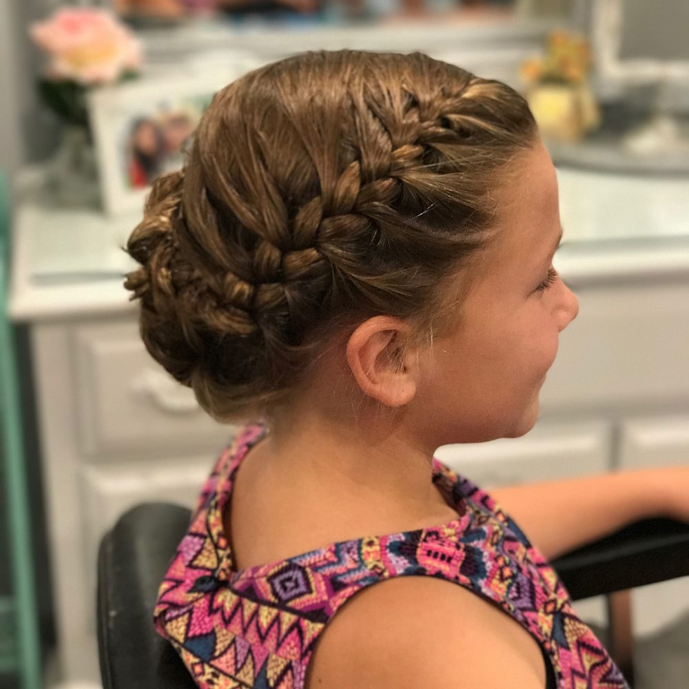 French Braid Updo hairstyle