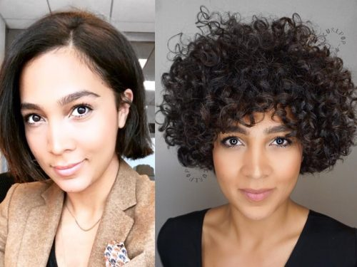 French Roast Black Curly Hair