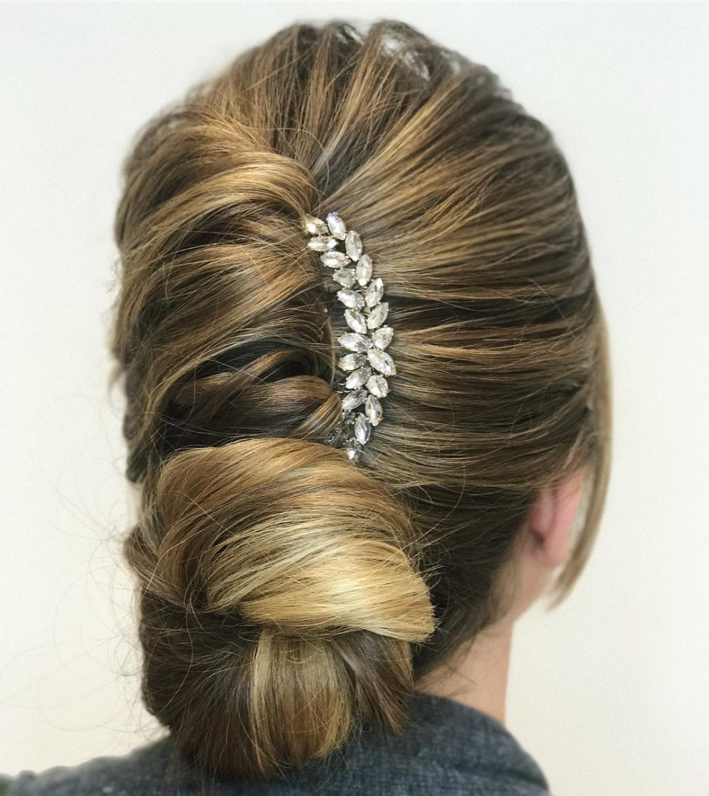 French Twist + Chignon hairstyle