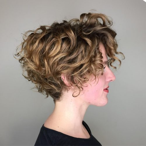 A fresh curly stacked bob