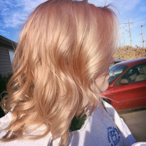 fresh rose gold hair color