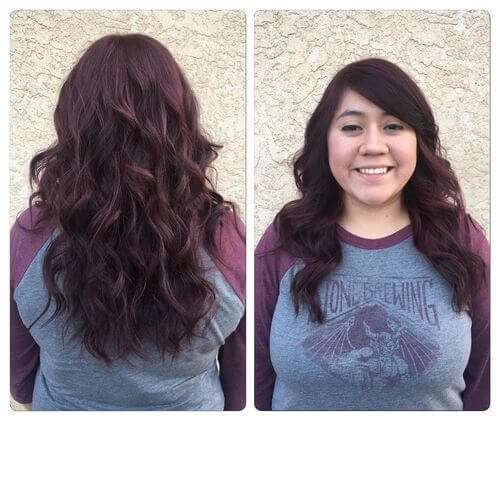 front-and-back-view-burgundy-hair