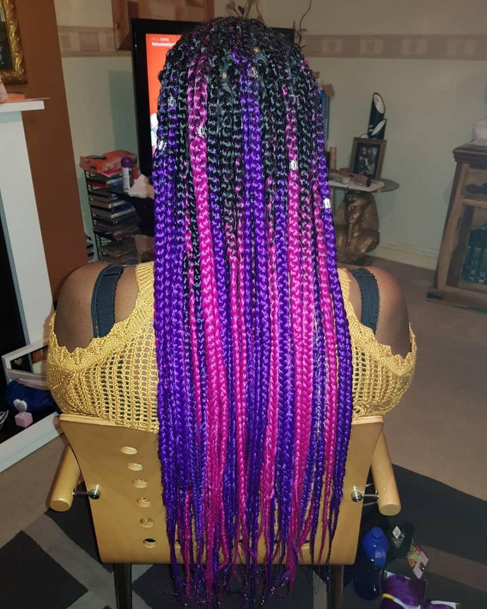 Fulani Braids hairstyle