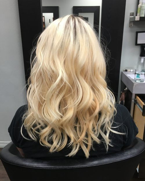 Picture of a full, texturized, voluminous and fun choppy layers
