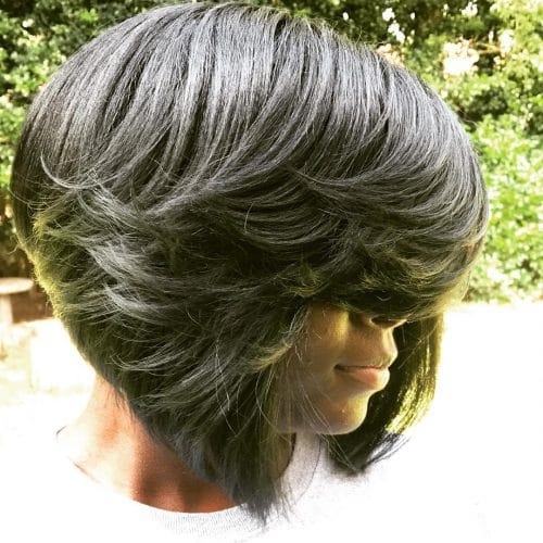 Full Feathered Pronto Bob hairstyle