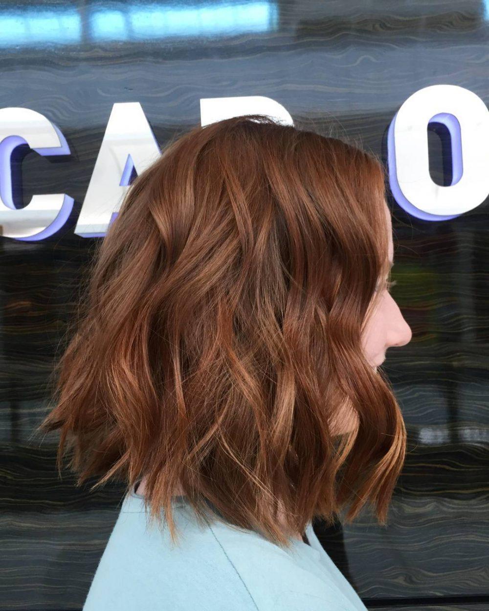 Fun and Modern Lob hairstyle