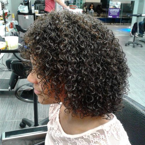 Picture of fun and natural curls for girls with curly hair