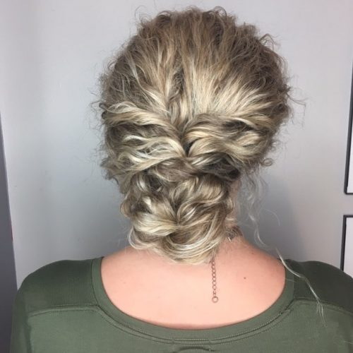 Picture of a fun and quick curly updo