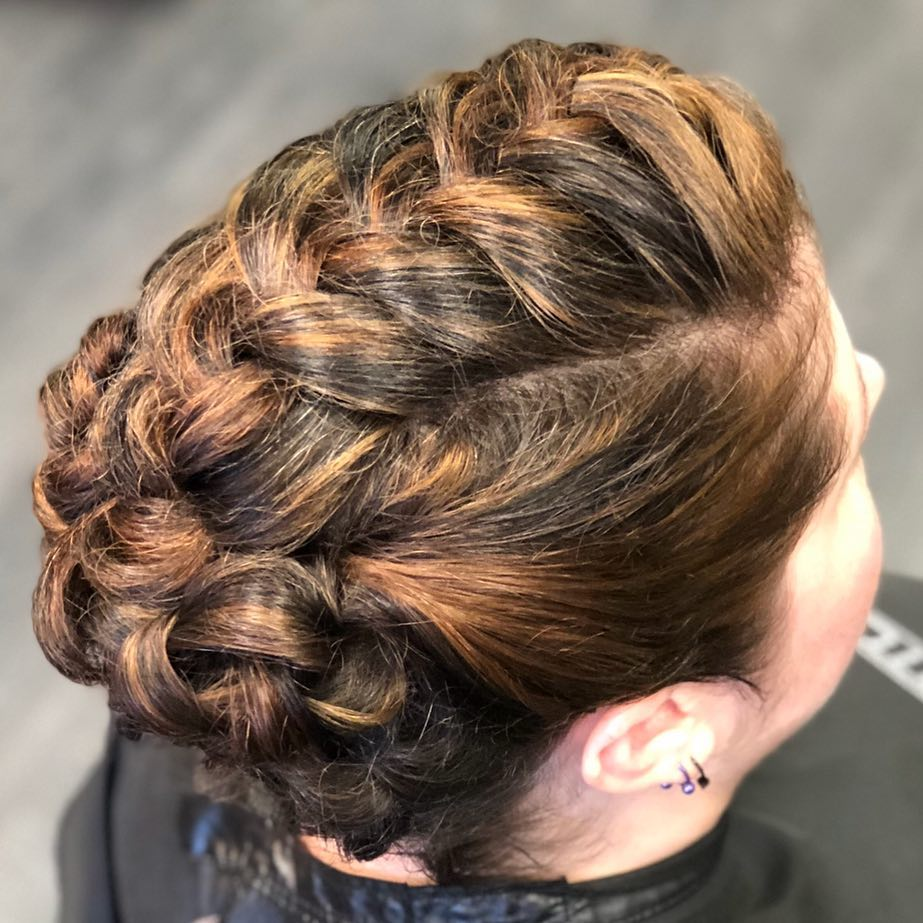 Fun Braided Updo hairstyle