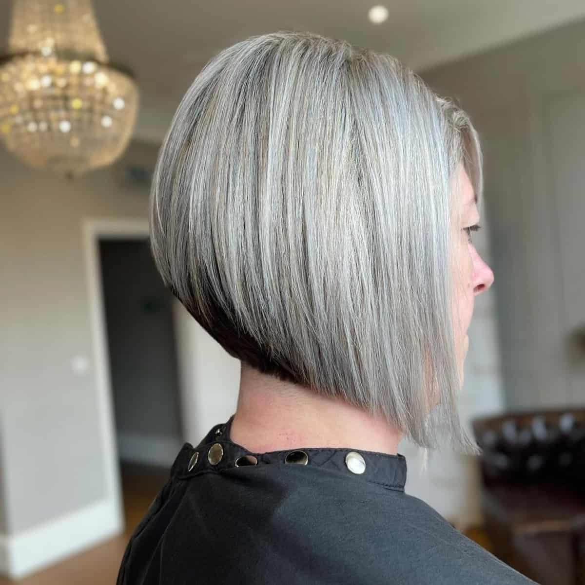 fun effortless hairstyle on woman over 50