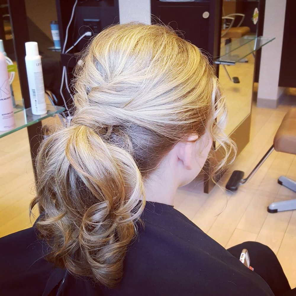 Fun Ponytail Updo hairstyle