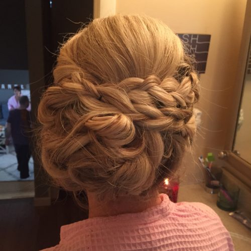 Picture of a fun yet classy formal chignon
