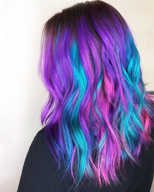 Picture of galaxy vibes color creative hairstyle