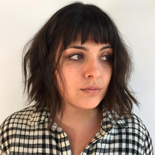 Glam Layered Choppy Hair with Fringe
