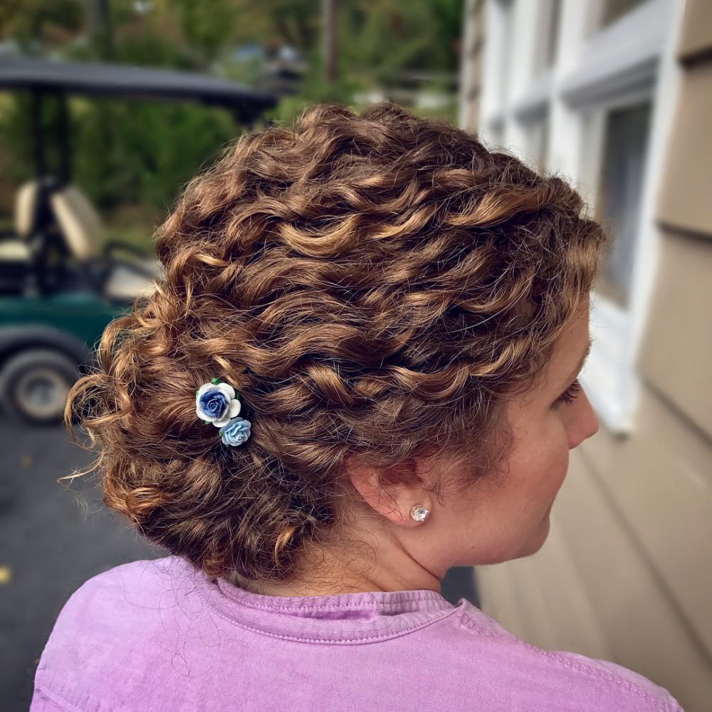 Glam Textured Updo hairstyle
