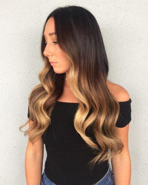 Glamorous Color Melt hairstyle