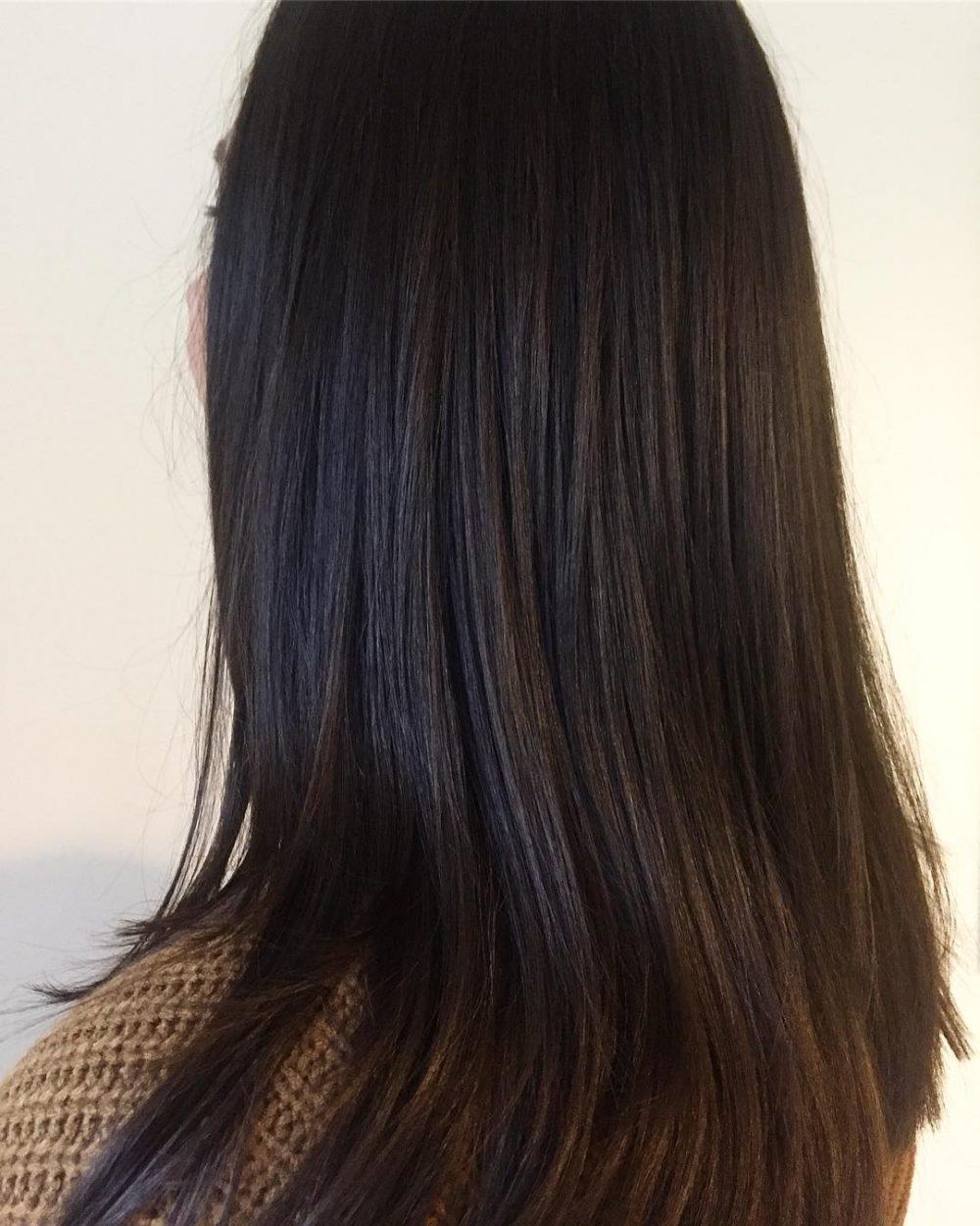 Glossy Dark Chocolate hairstyle