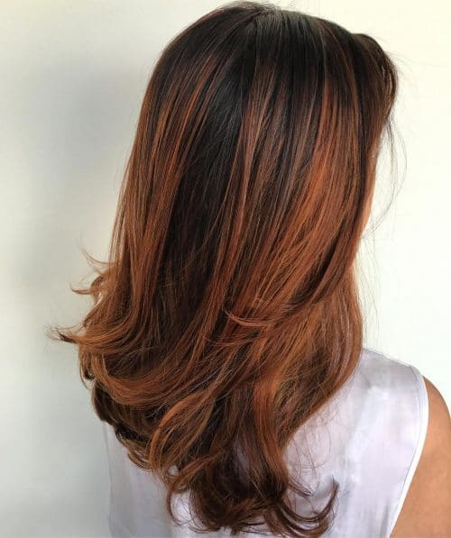 Glossy Mahogany Highlights. Mahogany Highlights On Dark Brown Hair