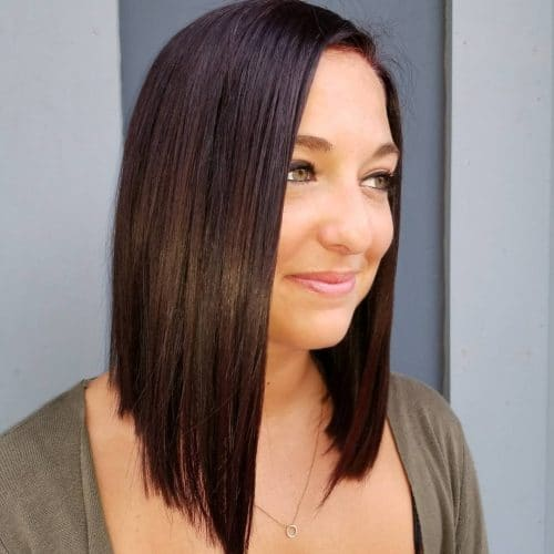 Glossy Blunt Bob hairstyle