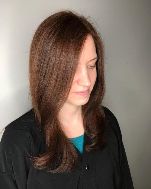 gold caramel auburn hair color