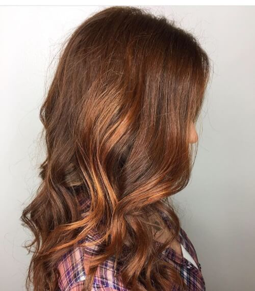 Golden copper auburn hair