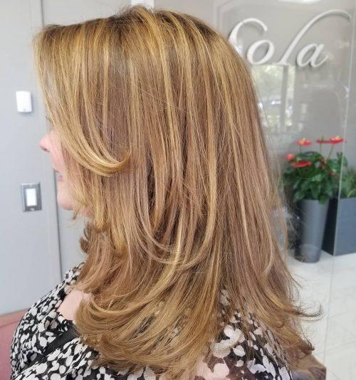 Picture of a golden dark blonde hair