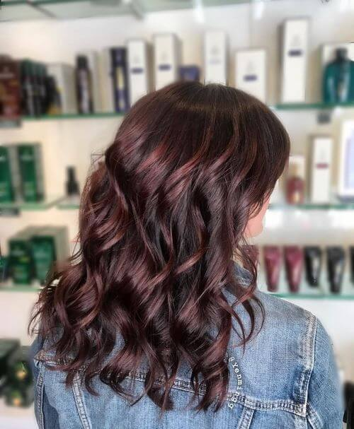 gorgeous burgundy curls