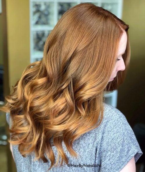 Gorgeous golden hue for brunette hair
