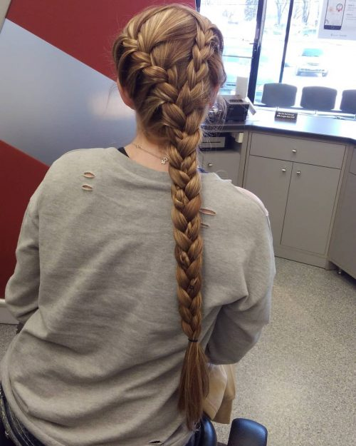 Picture of a gorgeous long hair French braid