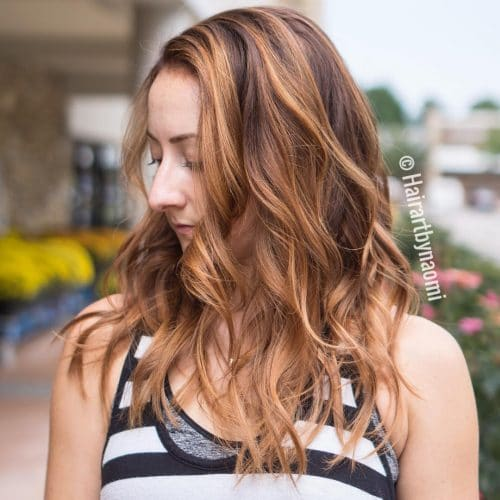 Gorgeous Amber Tones hairstyle