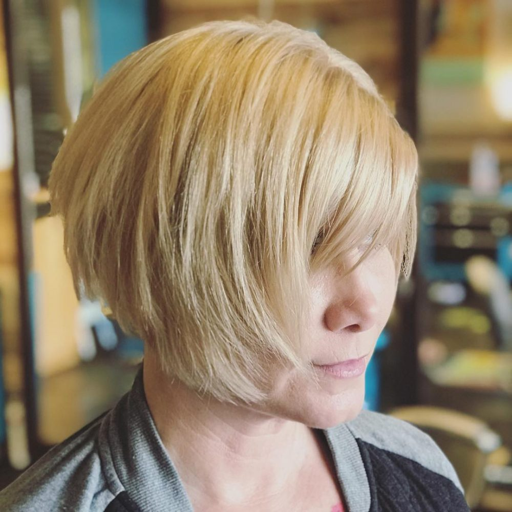 Graduated Texturized A-Line Bob hairstyle