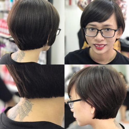 Graduated A-Line hairstyle