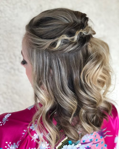 Picture of half up with a twist medium cute hair