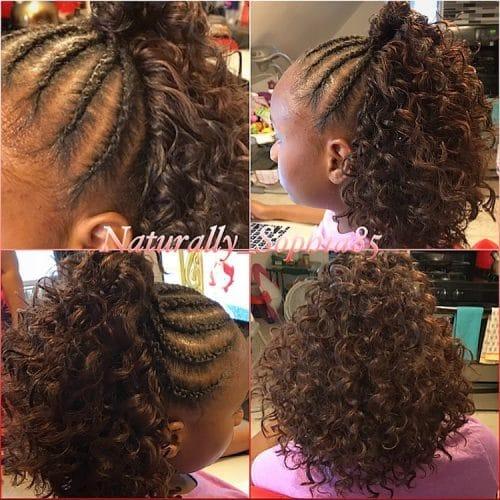 Half Up Half Down Crochet hairstyle