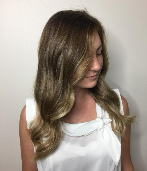 hectic balayage hair color