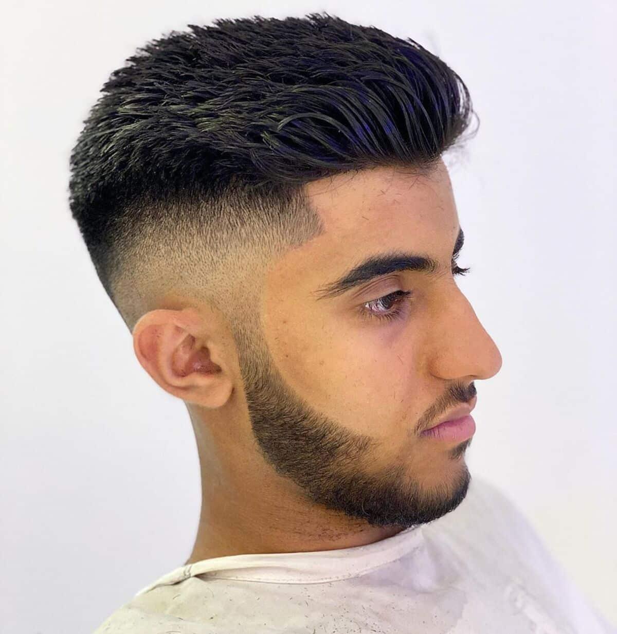 Corte de pelo de barba alta