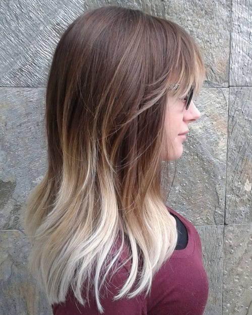 High Contrast Melt with Blonde Bangs