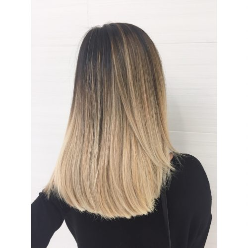 Higher Gradient Balayage hairstyle