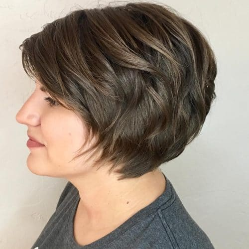 Highly Textured Long Pixie hairstyle