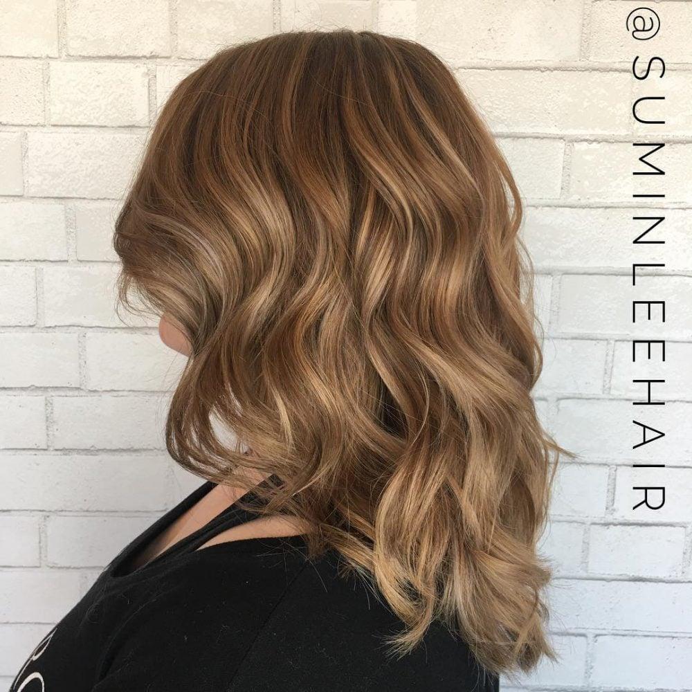 Honey Blonde Balayage hairstyle