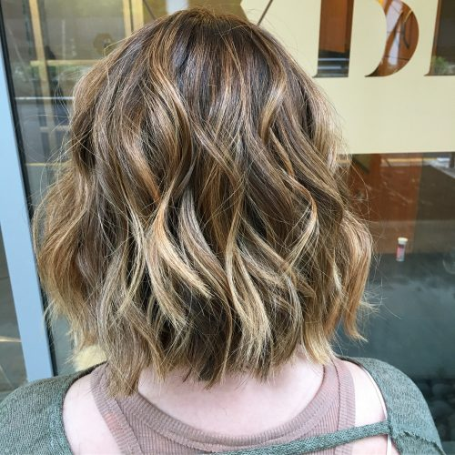 Dark Brown Hair With Honey Blonde Highlights