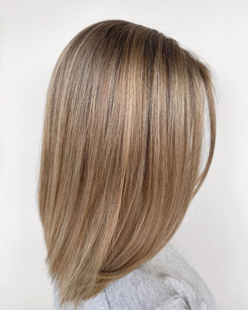 Honey Blonde on Shoulder-Length Hair