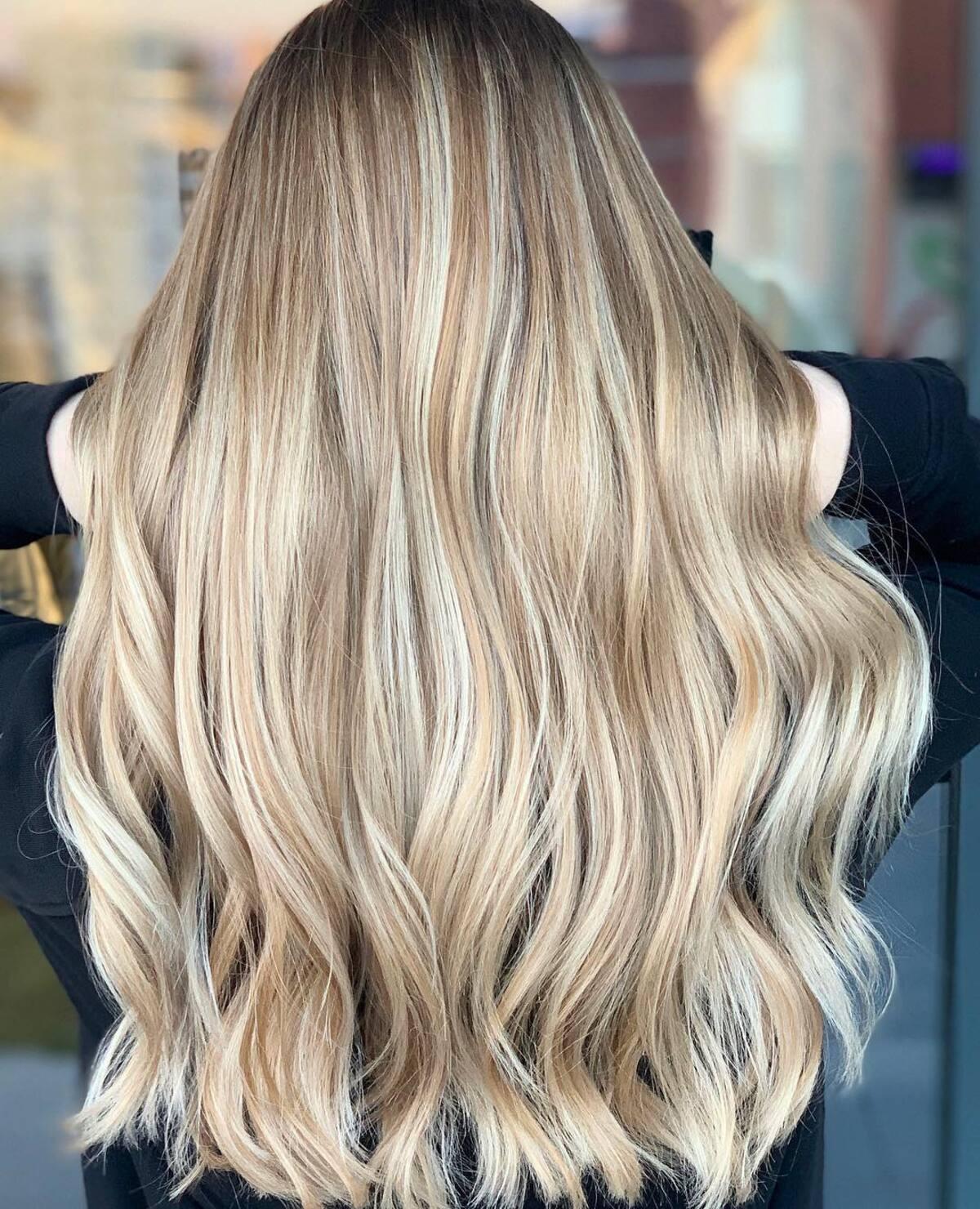 honey blonde with light blonde highlights