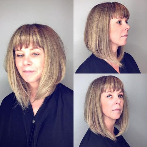 Horizontal Graduated A-Line with Bangs