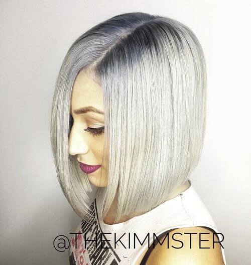icy blonde platinum hair color