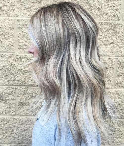 icy silver hair color